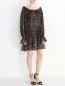 Платье-мини из полиэстера с анималистичным узором Norma Kamali  –  Модель Общий вид