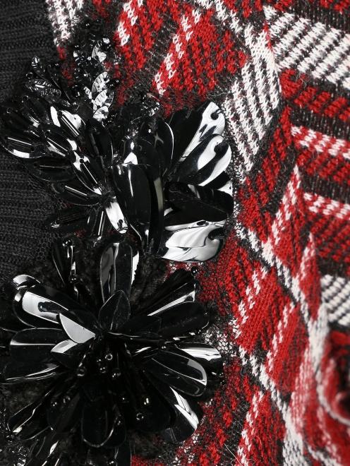 Джемпер из смешанной шерсти с декоративной вышивкой - Деталь