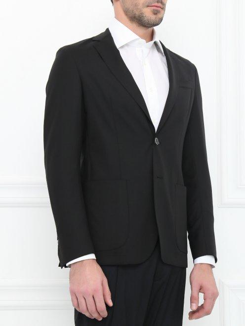 Пиджак из тонкой шерсти - Модель Верх-Низ