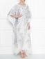Платье свободного кроя из шелка с аппликацией Daniela de Souza  –  МодельОбщийВид