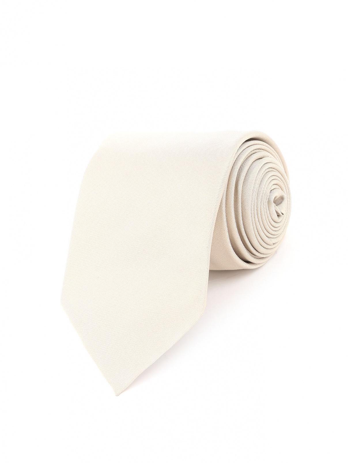 Галстук из шелка Boss  –  Общий вид  – Цвет:  Бежевый