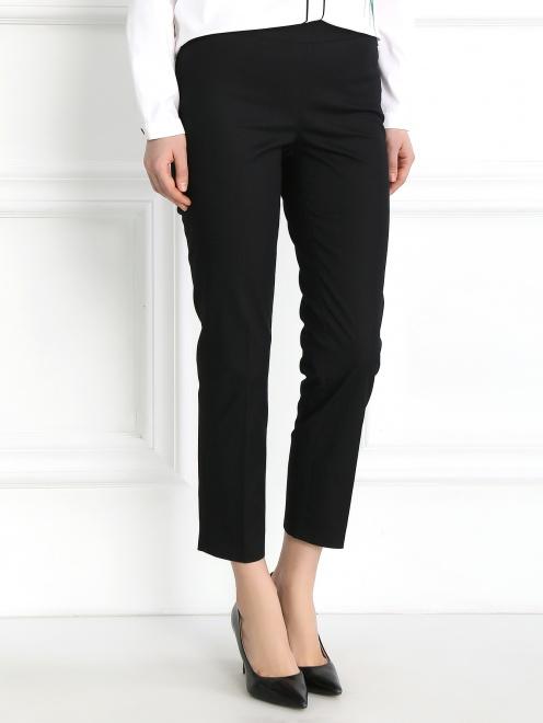 Укороченные брюки из хлопка зауженного кроя - Модель Верх-Низ