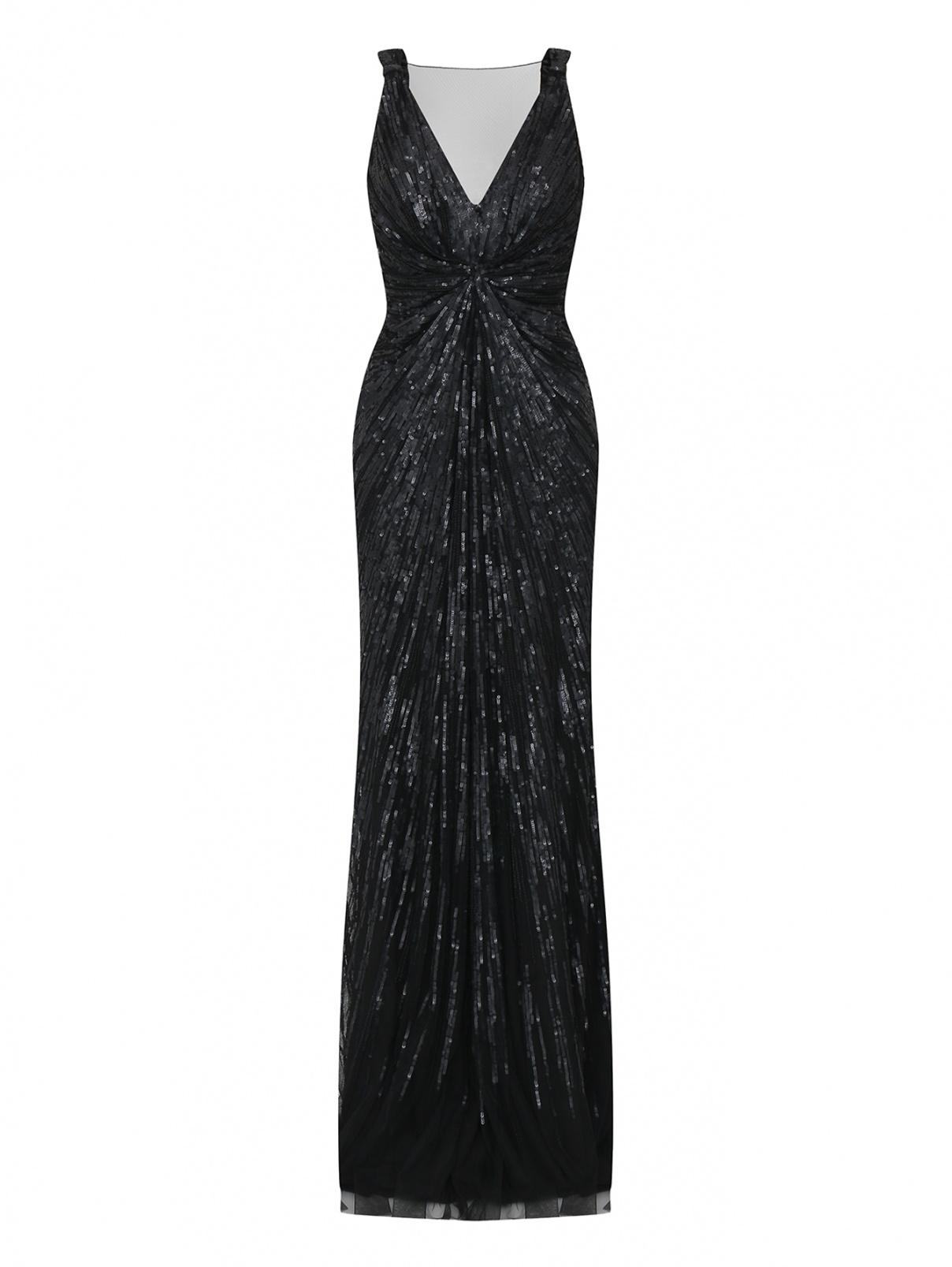 Платье-макси декорированное пайетками Rosa Clara  –  Общий вид