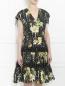 Платье-миди из хлопка с цветочным узором Jean Paul Gaultier  –  Модель Верх-Низ