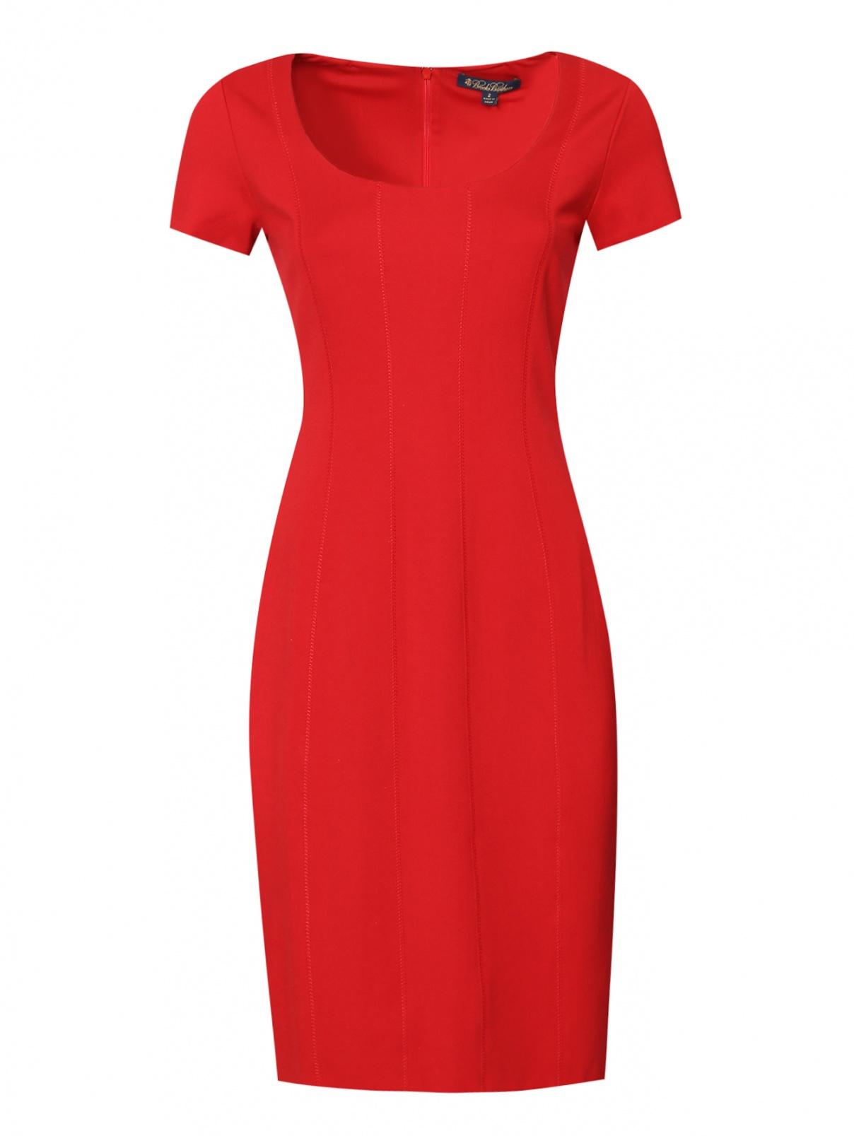 Платье-футляр с коротким рукавом Brooks Brothers  –  Общий вид