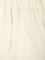 Укороченные широкие брюки из шерсти на резинке Barbara Bui  –  Деталь