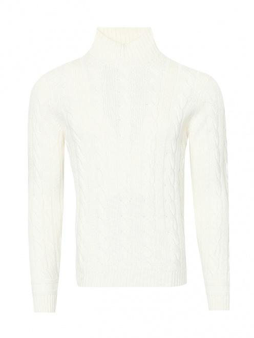 Джемпер из шерсти с узорной вязкой  - Общий вид