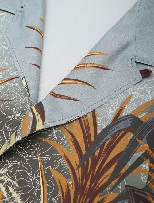 Рубашка из шелка с принтом - Деталь