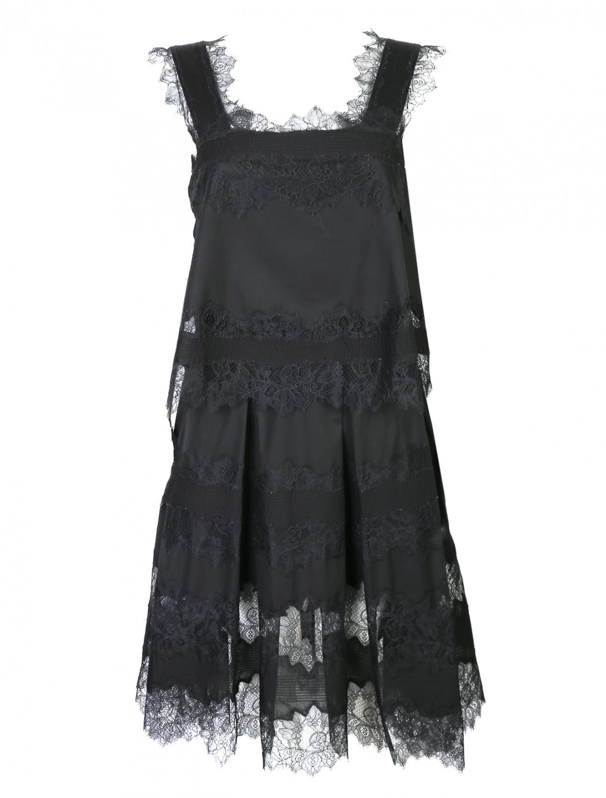 Платье-миди из хлопка с кружевной отделкой Ermanno Scervino  –  Общий вид