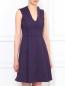 Платье-футляр с V-образным вырезом Sportmax  –  Модель Верх-Низ