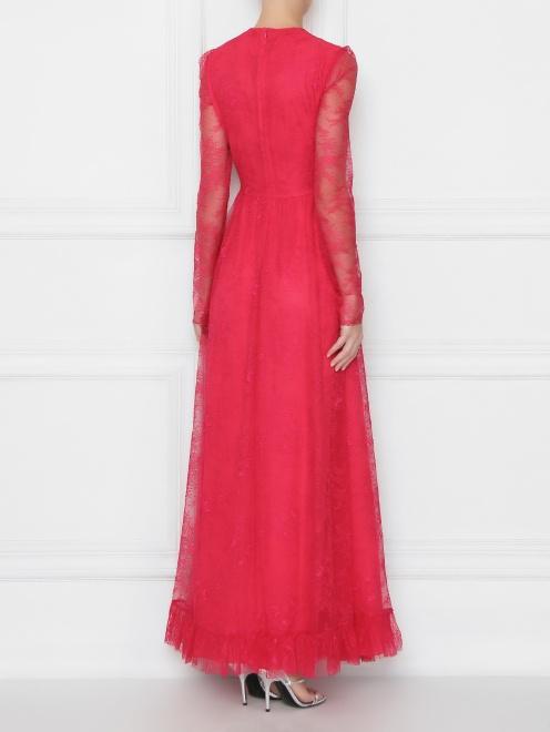 Платье-макси с кружевным узором - МодельВерхНиз1