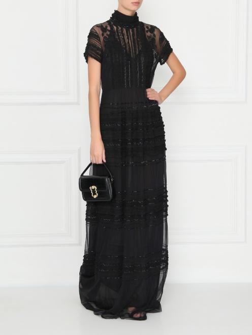 Платье из сетки расшитое бисером  - Общий вид