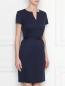 Платье шерстяное, приталенное, с поясом Brooks Brothers  –  МодельВерхНиз