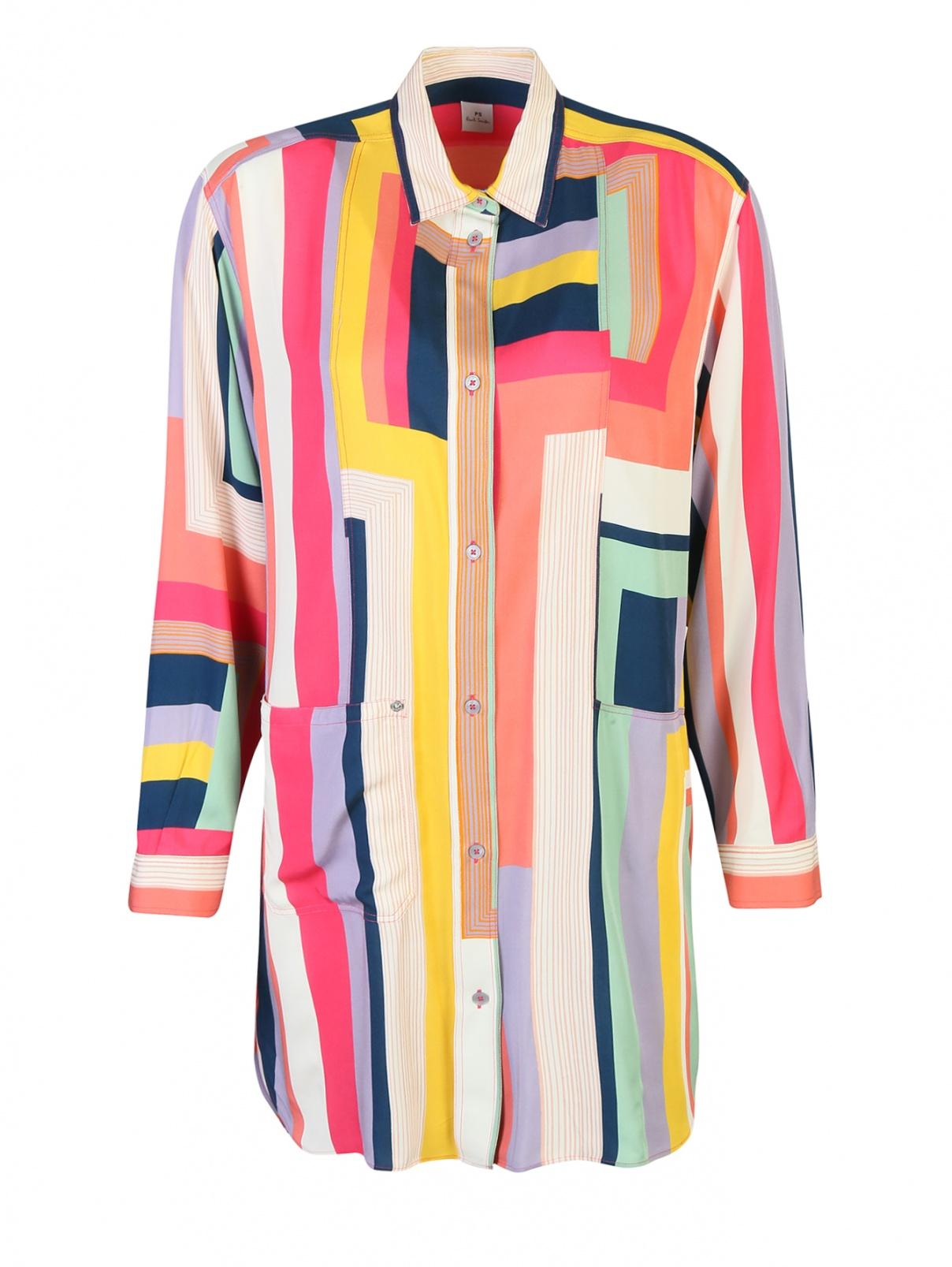 Платье с узором полоска из вискозы Paul Smith  –  Общий вид