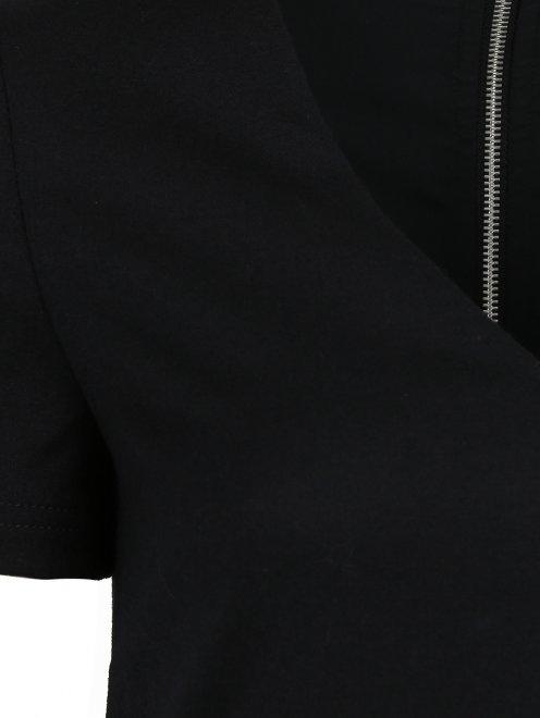 Платье-мини из шерсти с декоративной молнией  - Деталь