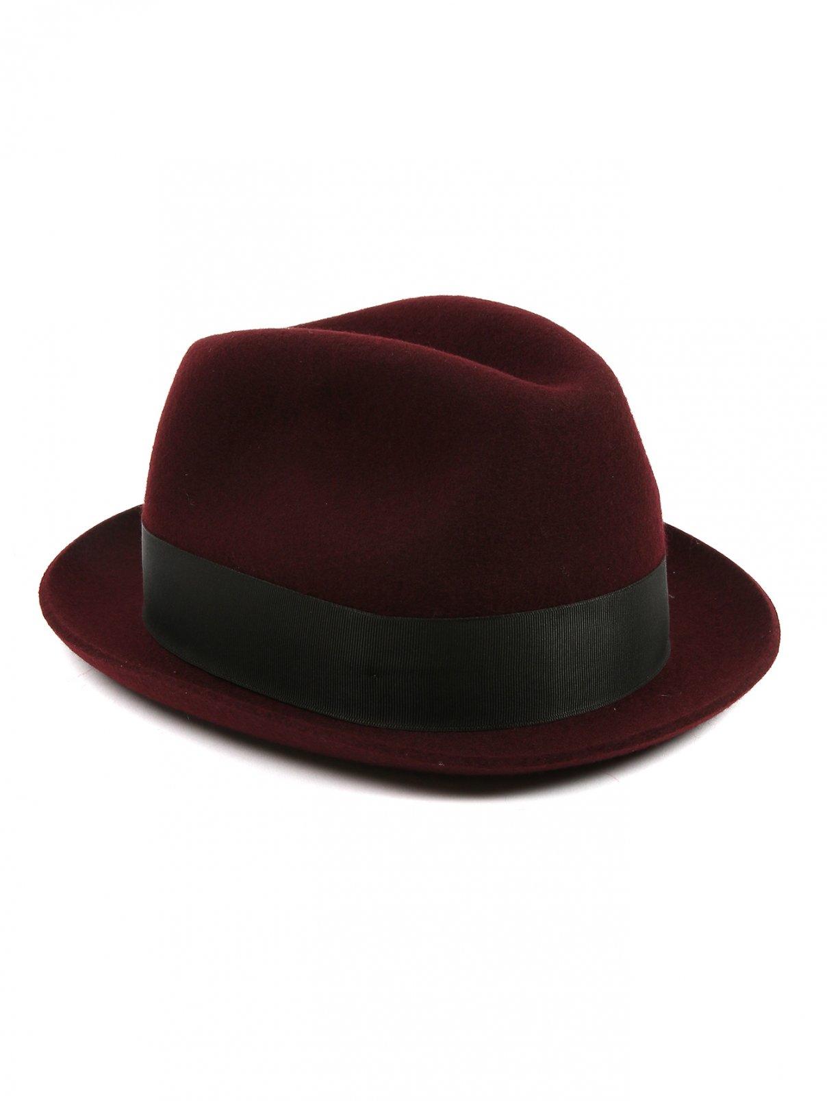Шляпа из шерсти с контрастной вставкой Paul Smith  –  Общий вид  – Цвет:  Красный