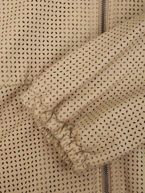 Куртка из кожи с перфорацией - Деталь1