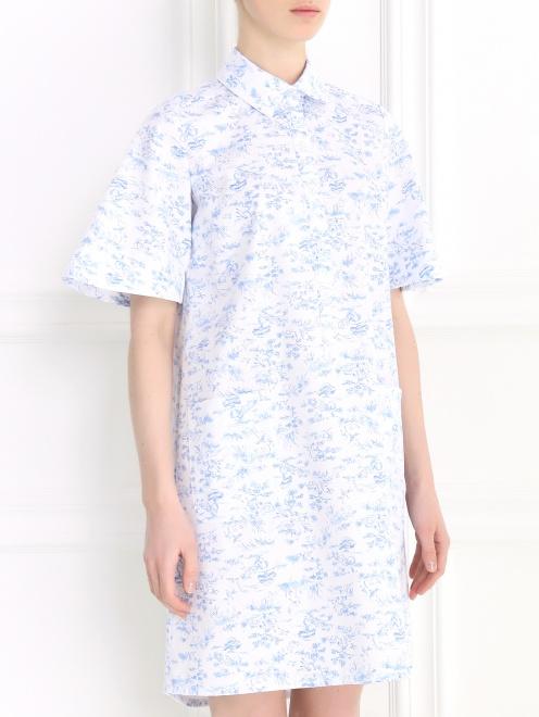 Платье-мини с коротким рукавом - Модель Верх-Низ