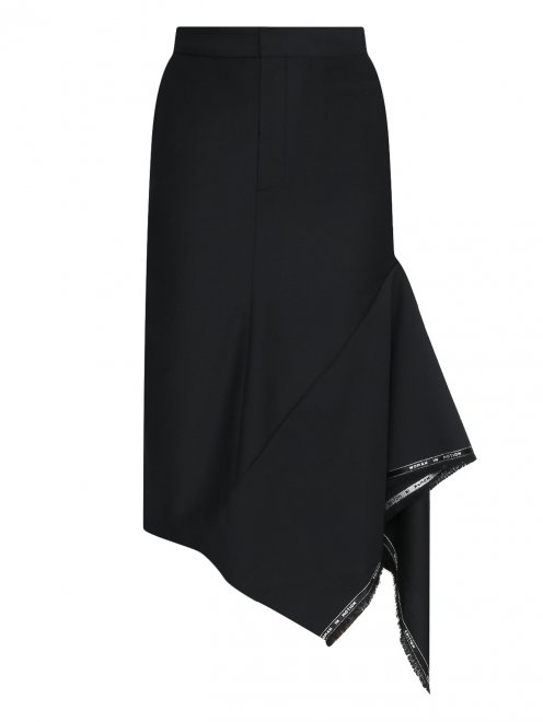 Юбка с боковыми карманами и контрастной отделкой - Общий вид