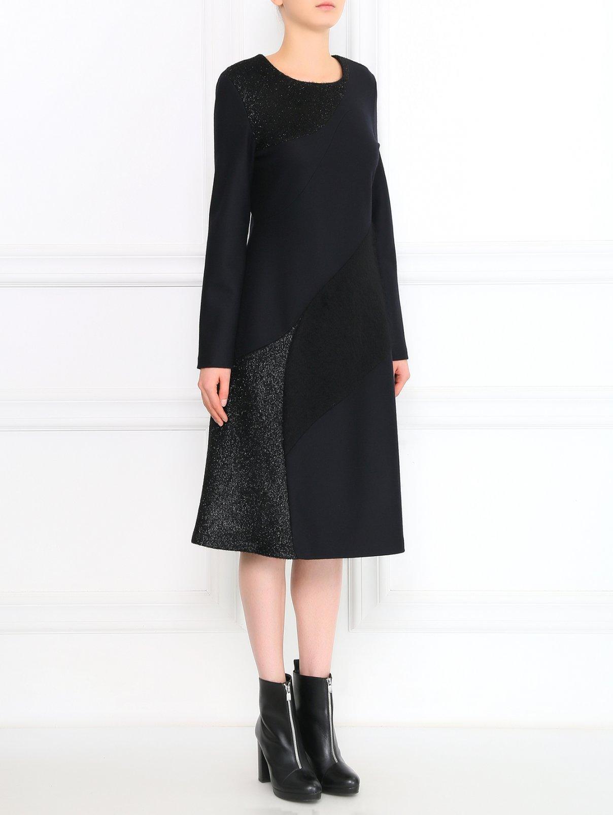 Платье из мохера асимметричного кроя Jil Sander  –  Модель Общий вид