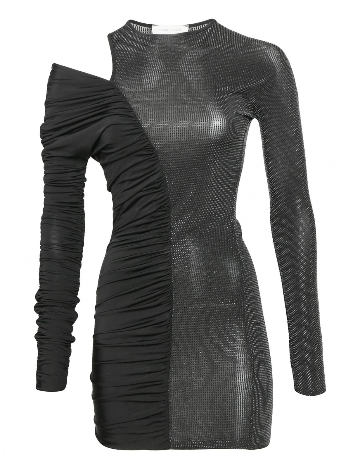 Платье ассиметрического кроя декорированное стразами Pierre Balmain  –  Общий вид