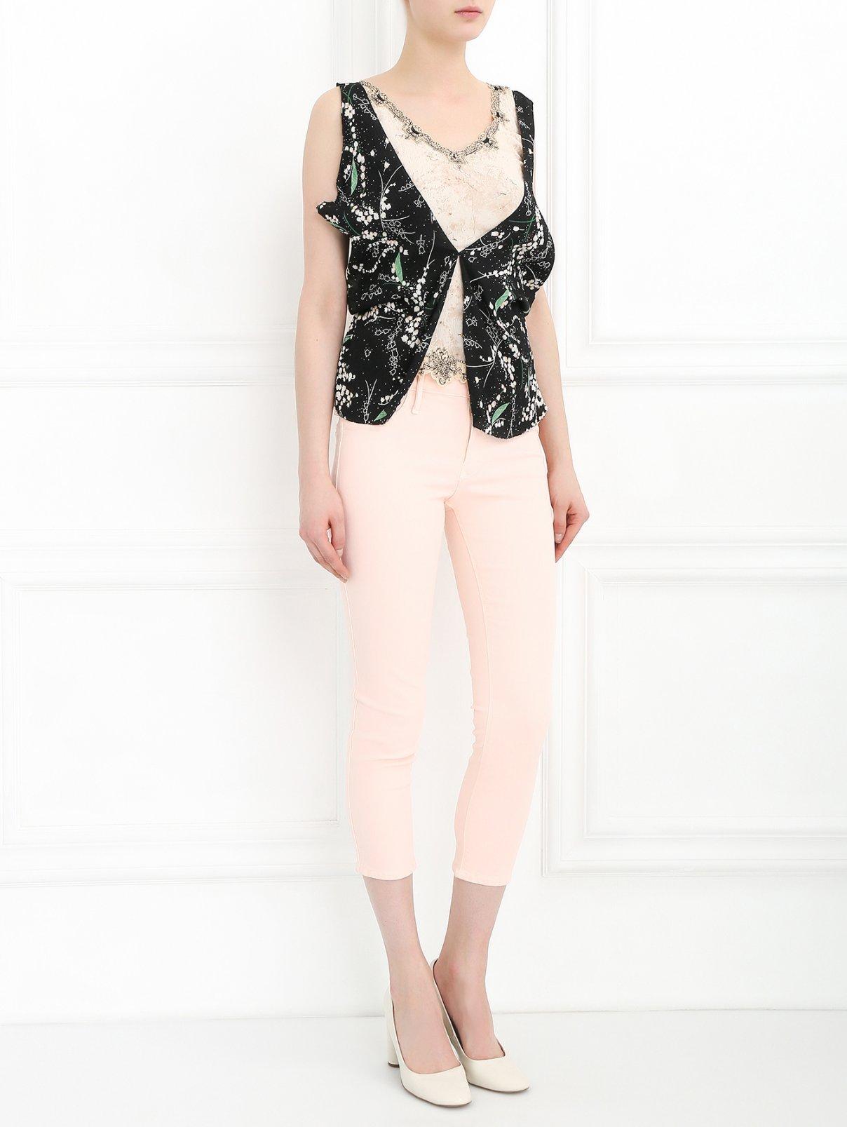 Узкие джинсы из смешанного хлопка Black Orchid  –  Модель Общий вид  – Цвет:  Розовый