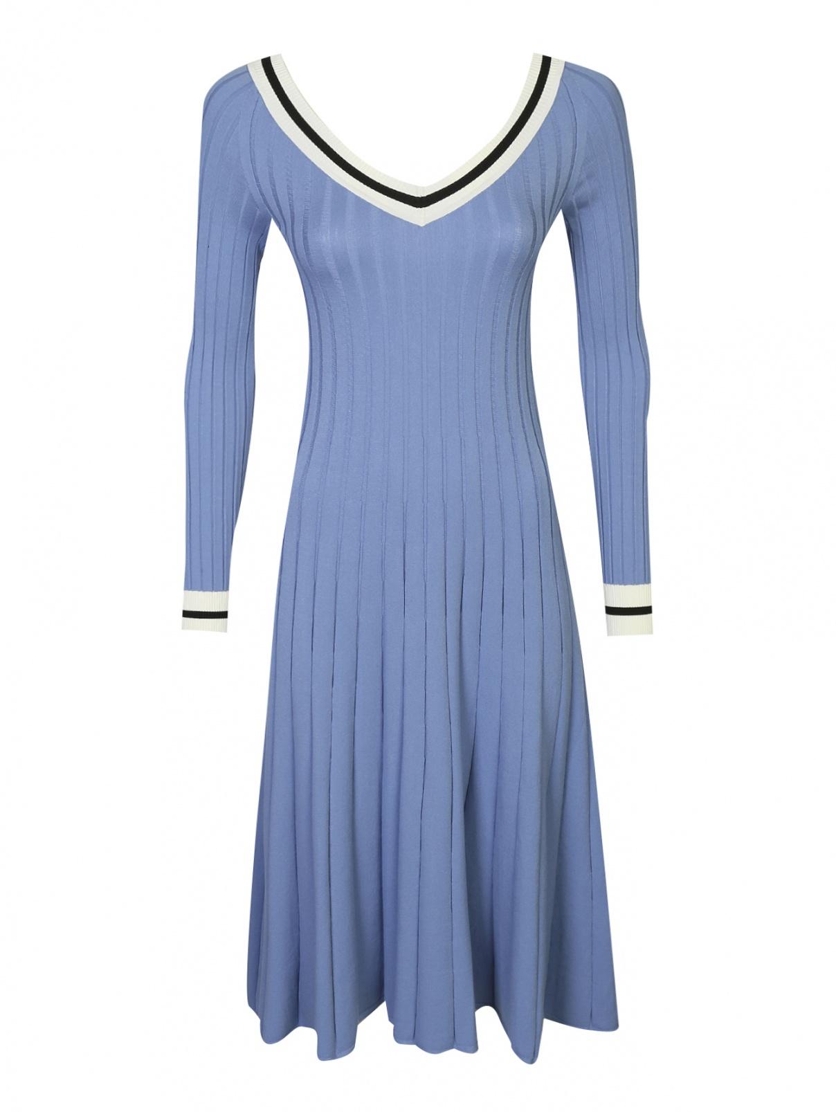Платье-миди с контрастной отделкой Sportmax  –  Общий вид