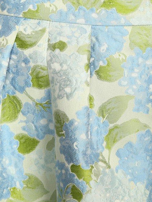 Юбка-трапеция с цветочным узором - Деталь