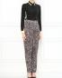 Шелковые брюки с узором Jean Paul Gaultier  –  Модель Общий вид