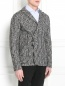 Пиджак из шерсти и хлопка  узором Emporio Armani  –  Модель Верх-Низ