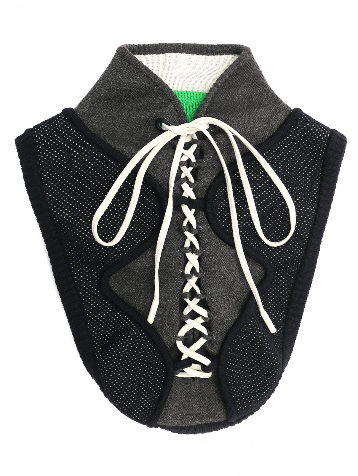 Воротник трикотажный на шнуровке Sportmax  –  Общий вид  – Цвет:  Зеленый