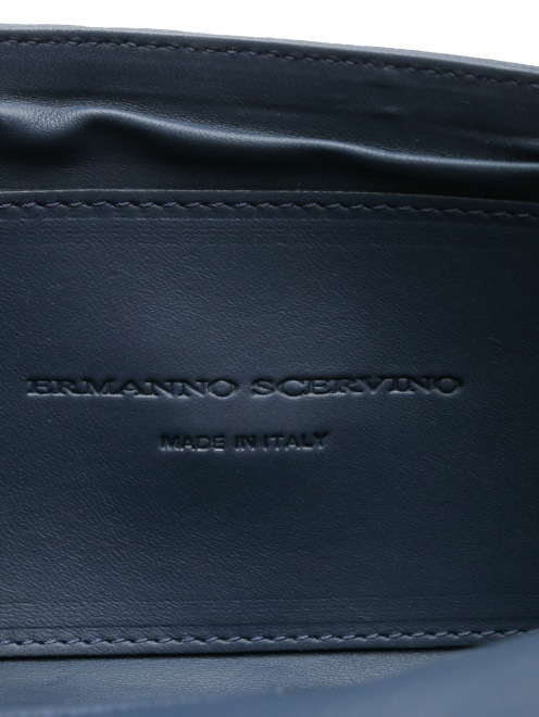 Сумка из текстиля и кожи на цепочке - Деталь1