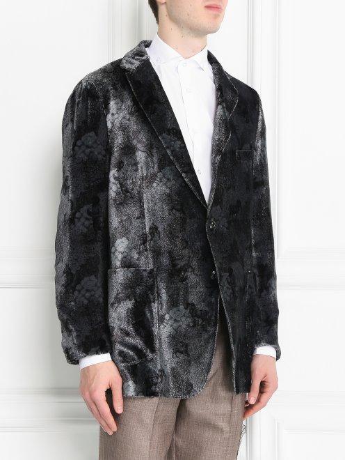 Пиджак однобортный с узором - МодельВерхНиз