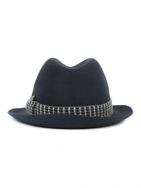 Шляпа из шерсти с контрастной вставкой  - Обтравка2