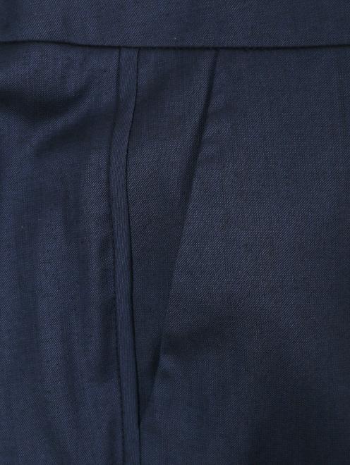 Брюки из смешанной шерсти прямого кроя с карманами - Общий вид