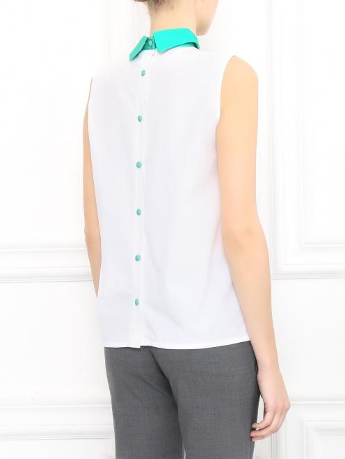 Рубашка из хлопка с декором  - Модель Верх-Низ1