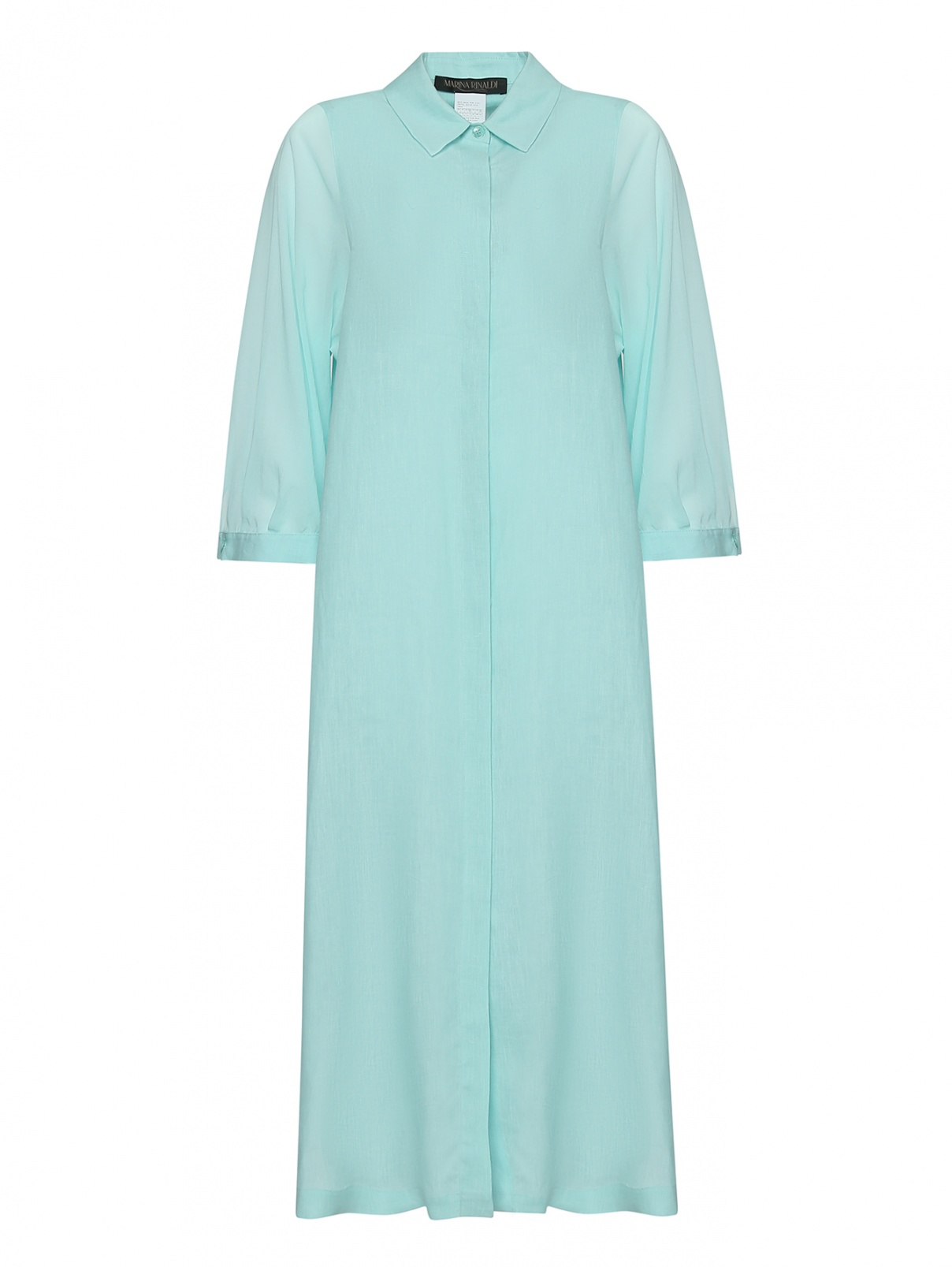 Платье прямого кроя из льна Marina Rinaldi  –  Общий вид