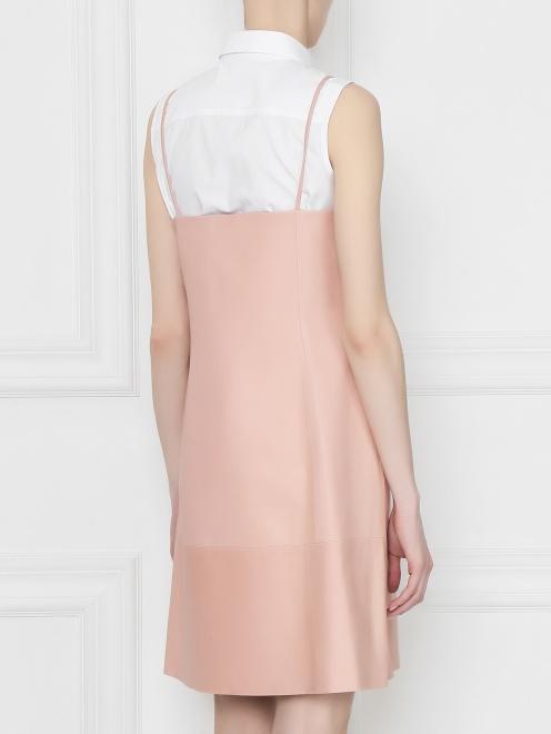Платье из кожи пряиого кроя  - МодельВерхНиз1