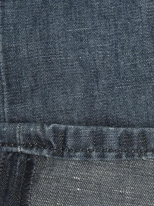 Брюки джинсового кроя из хлопка и льна - Деталь2