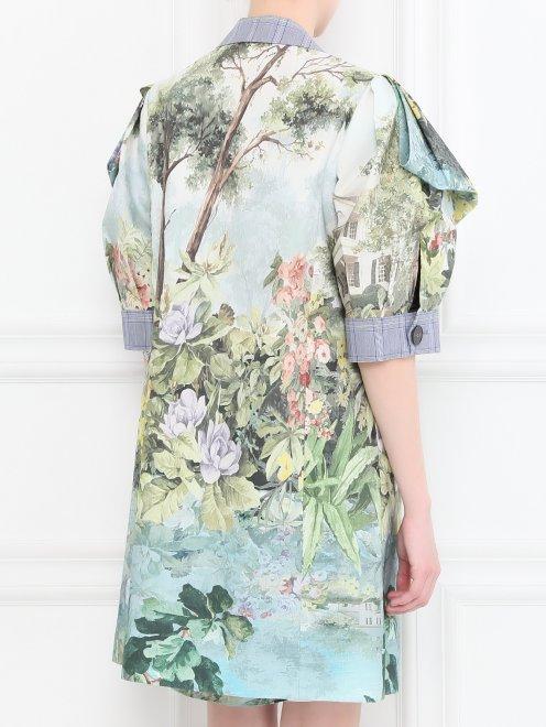 Легкое пальто из хлопка с цветочным узором - МодельВерхНиз1