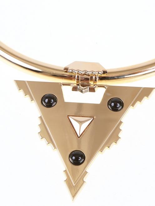 Ожерелье из латуни с яшмой - Деталь