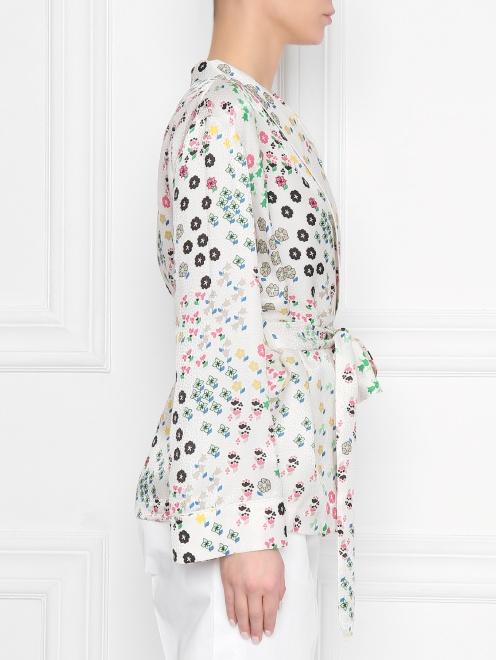 Жакет из смесового шелка в пижамном стиле - МодельВерхНиз2