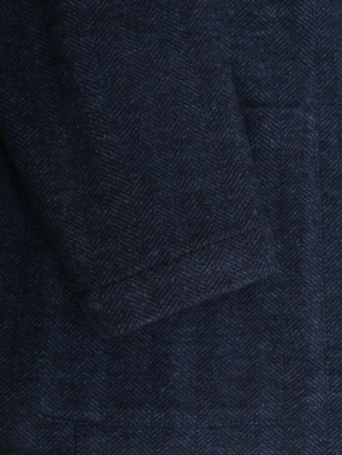 Трикотажный пиджак из смеси хлопка и шерсти  - Деталь