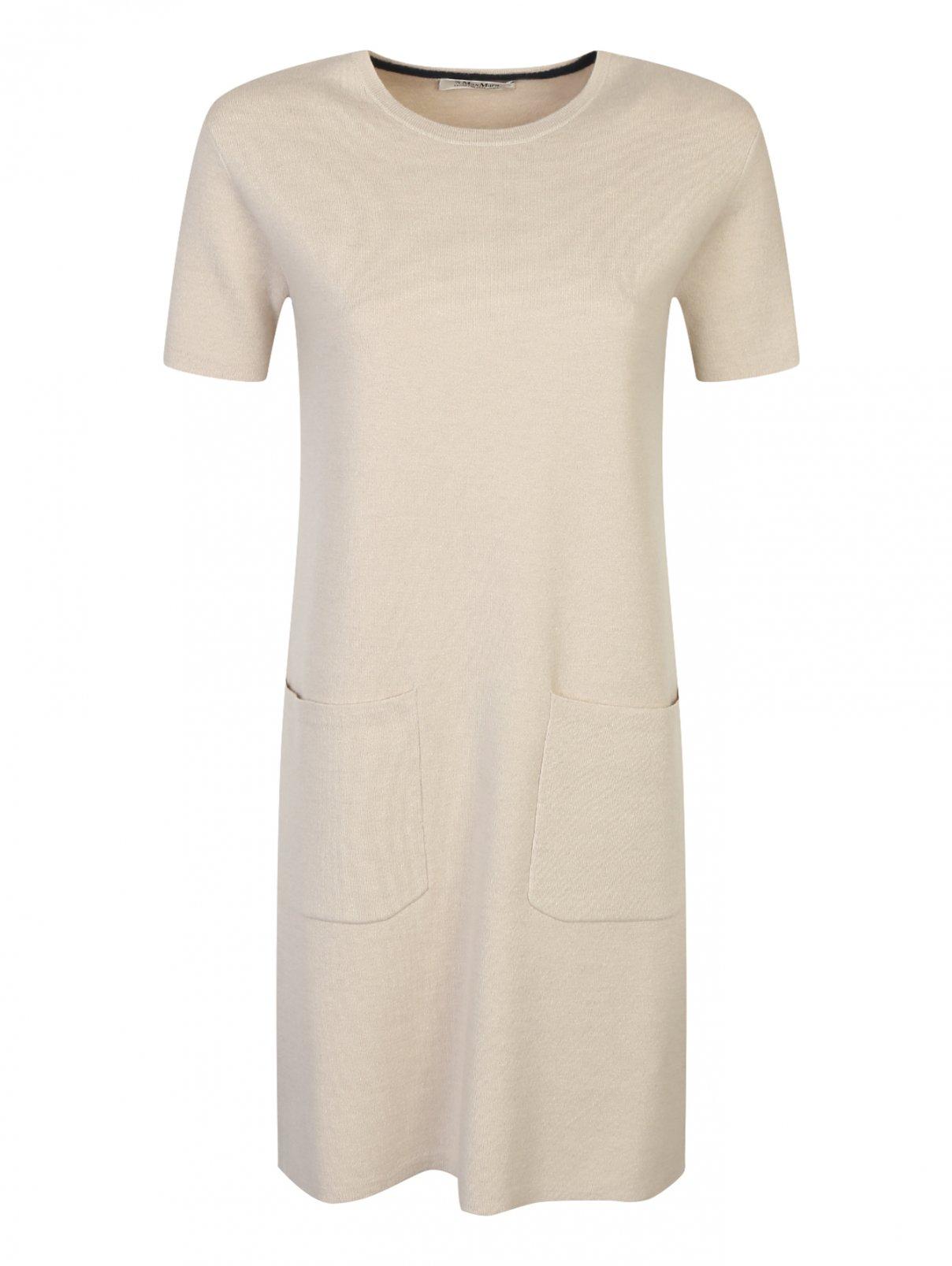 Трикотажное платье из шерсти и кашемира с накладными карманами Max Mara  –  Общий вид