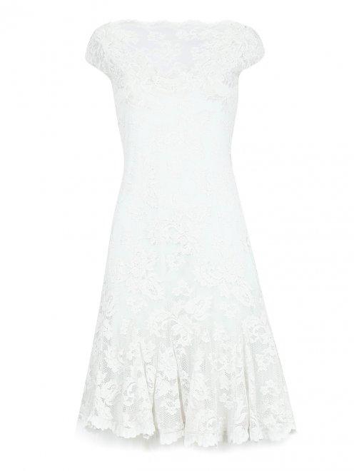 Платье из кружева с короткими рукавами - Общий вид
