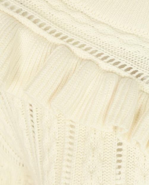 Джемпер из смешанной шерсти крупной вязки - Общий вид