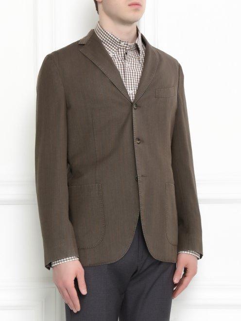 Пиджак однобортный  из шерсти - Модель Верх-Низ