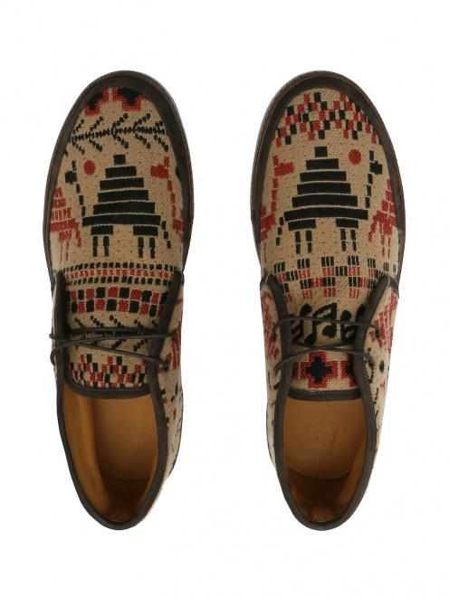Ботинки из кожи с узором - Обтравка4