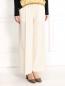 Укороченные широкие брюки из шерсти на резинке Barbara Bui  –  Модель Верх-Низ