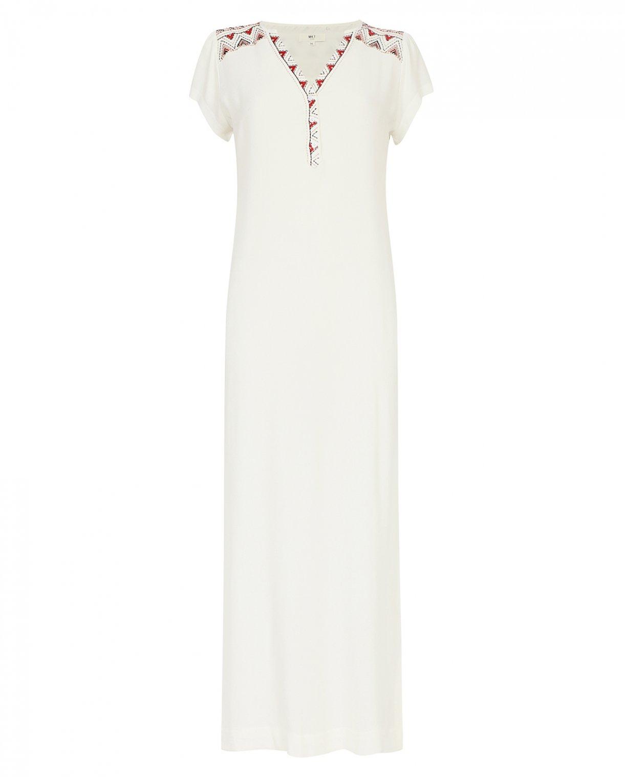 Платье-макси с вышивкой с V-образным вырезом MKT Studio  –  Общий вид